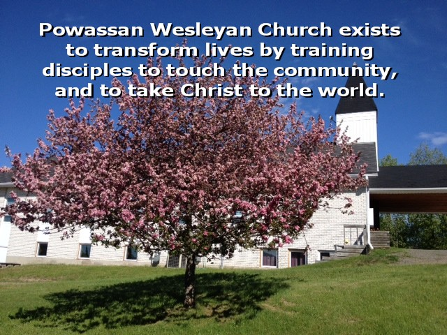 Church pic flowering tree and mission statement for website